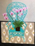 Green Chair & Pink Orchid